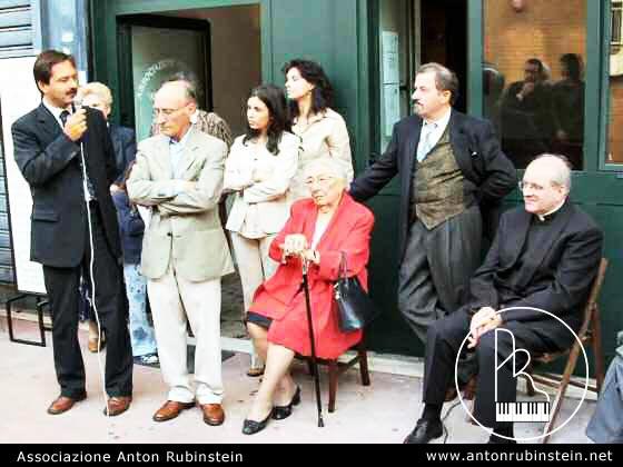 Roma, 12 ottobre 03 Inaugurazione della Scuola di Musica Anton Rubinstein con il Presidente del V Municipio Ivano Caradonna